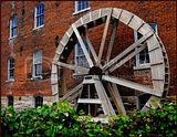 Water Wheel in Bonapart, Iowa